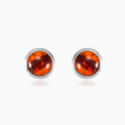 Round amber earrings woman Earrings Colorino