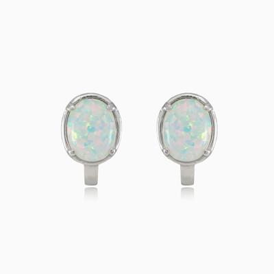 Simple oval opal earrings woman Earrings Colorino