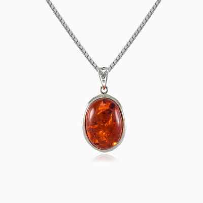 Oval amber pendant woman pendants