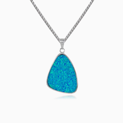 Soft opal triangle woman Pendants Colorino