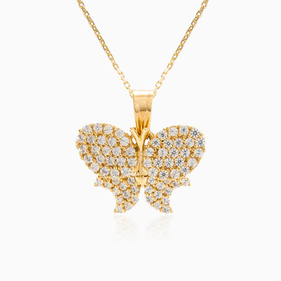 Sparkling butterfly pendant woman pendants MC Gold