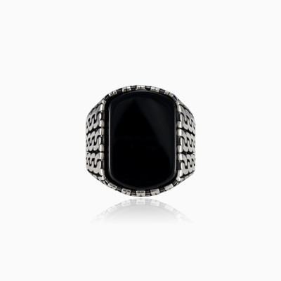 Chained onyx ring man rings NT
