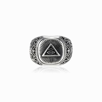 Eye of providence ring man Rings Simbólico