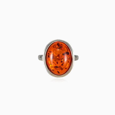Oval amber ring woman Rings Colorino