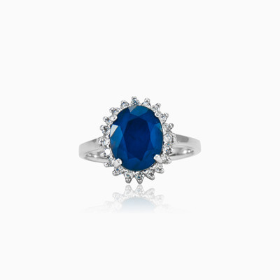 Oval sapphire ring woman Rings Halo