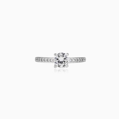 Accent silver ring woman Engagement rings