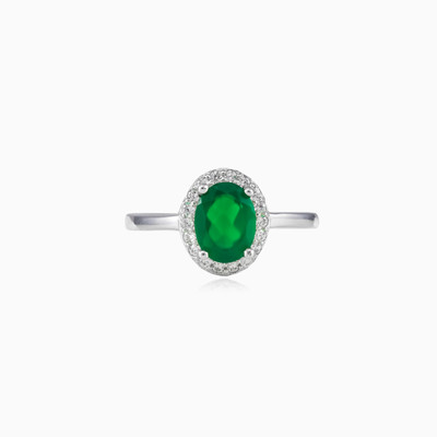 Soft green quartz ring woman Rings