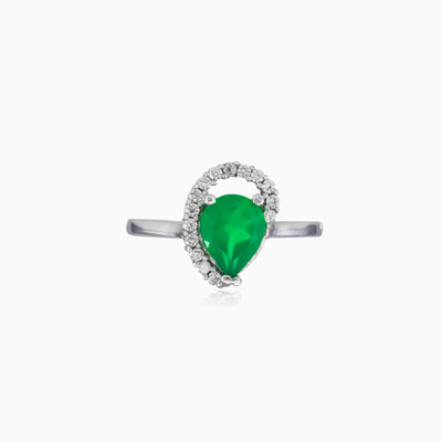 Wave crystal jade ring woman rings Colorino