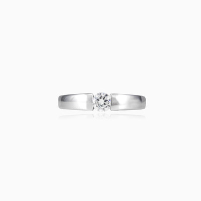 Tension silver ring woman Engagement rings Shine bright
