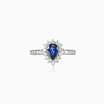 Золотое кольцо Royal с сапфиром в форме капли Женские Помолвочные кольца Royal