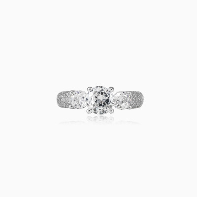 Trilogy silver ring woman engagement rings Shine bright