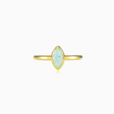 Marquise white opal ring woman rings Tinge