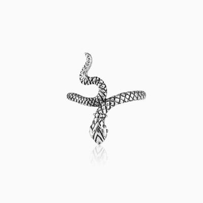 Silver snake ring unisex Rings Animale
