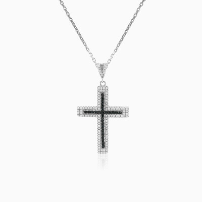 Black & White cross woman pendants Shine bright