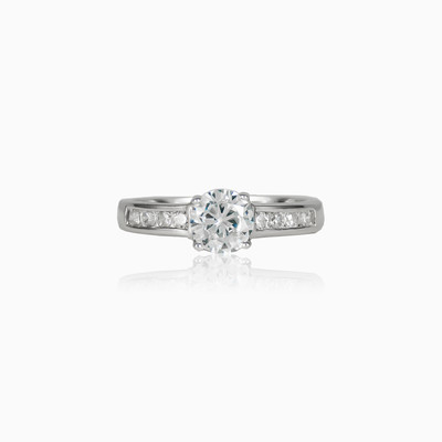 Classic accent ring woman engagement rings Shine bright