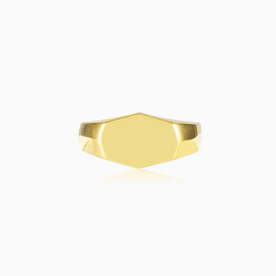 Plain gold plated silver ring unisex Rings High polished