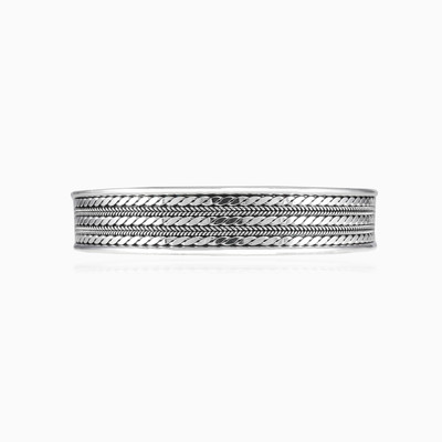 Triple ornament cuff bracelet unisex Bracelets Rustico