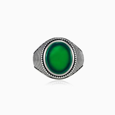 Pánský prsten s nefritem symmetry unisex Prsteny Harmony