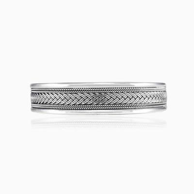 Wide ornament cuff unisex Bracelets Rustico