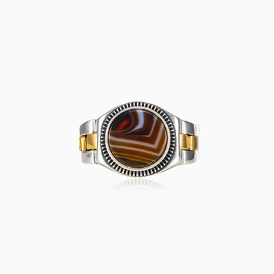 Agate oyster strap ring unisex Rings oyster strap