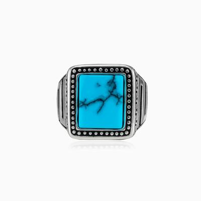 Dot turquoise ring man Rings Hellas