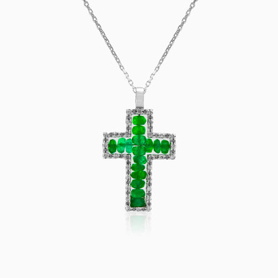Zancan emerald cross woman pendants Zancan