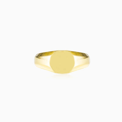 Simple gold plated ring unisex Rings High polished