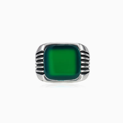 Retro jade ring man Rings