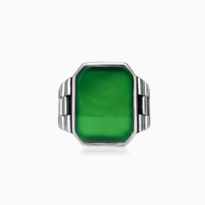 Flat emerald jade ring man Rings oyster strap