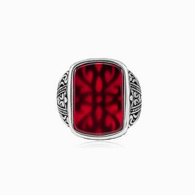 Bel agate ring hombre anillos Palmyra