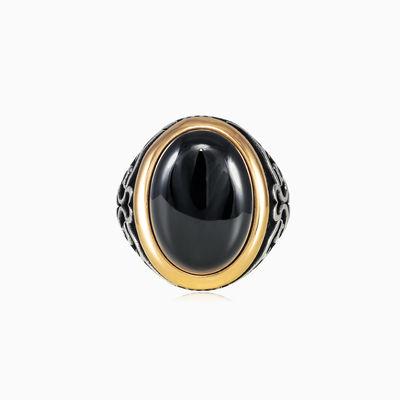 Assur onyx ring man Rings