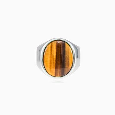 Plain tiger eye ring man Rings High polished