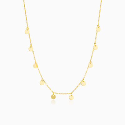 Gold plated dangling necklace woman necklaces