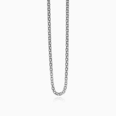 Popcorn silver chain man Chains Detallado