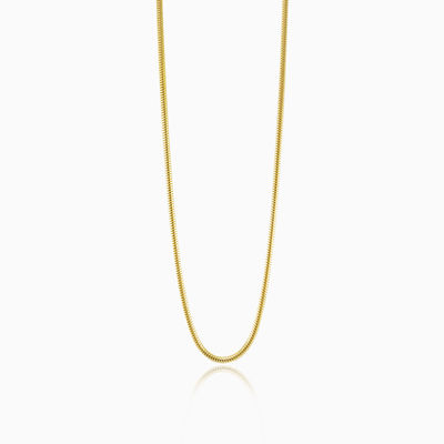 Gold plated snake chain unisex Chains