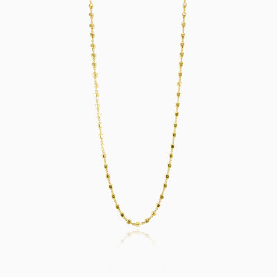 Gold plated square beads chain unisex Chains