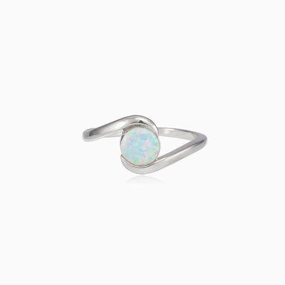 Weich gedrehter weißer Opalring Frauen Ringe Colorino