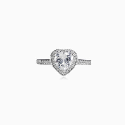 Heart crystal ring woman Rings Lovely