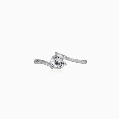 Twisted three prong ring woman Engagement rings Shine bright