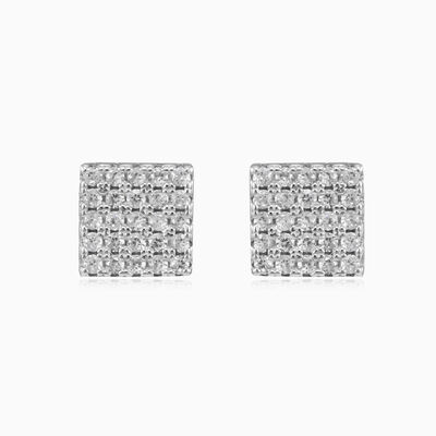 Shiny square earrings unisex Earrings Shine bright