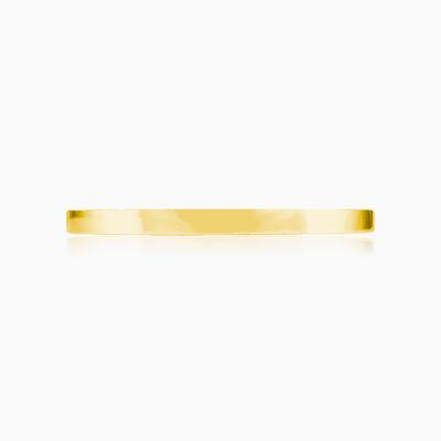 Plain gold cuff bracelet unisex Bracelets Rustico