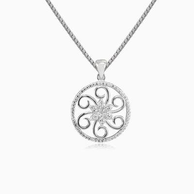 Spiral flower pendant woman Pendants Shine bright