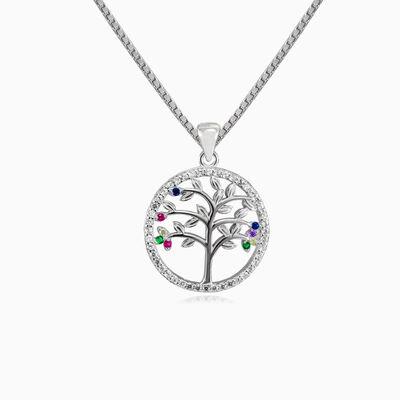 Simple colorful tree of life woman Pendants Tree of life