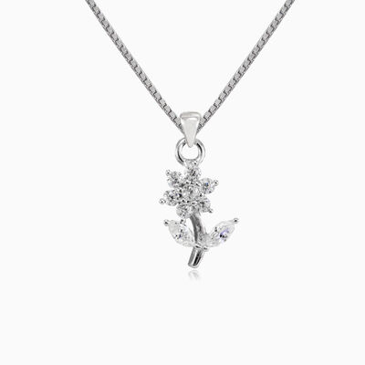 Tiny flower pendant woman Pendants