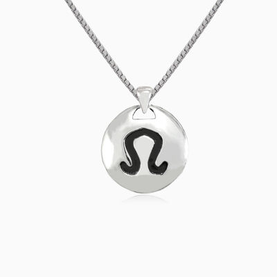 Leo silver pendant unisex Pendants Zodiac signs