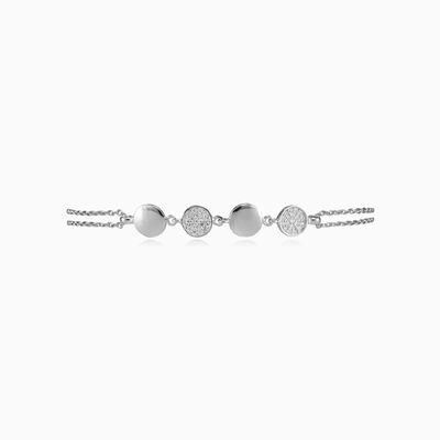 Circles crystal silver bracelet woman Bracelets