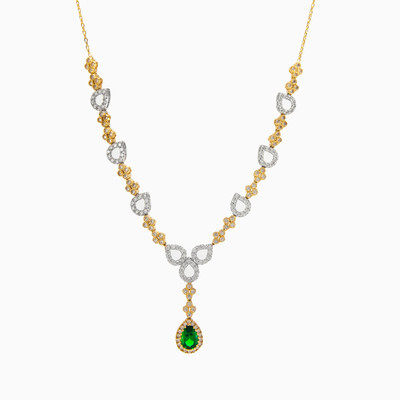 Gold necklace with green quartz woman necklaces MC Gold