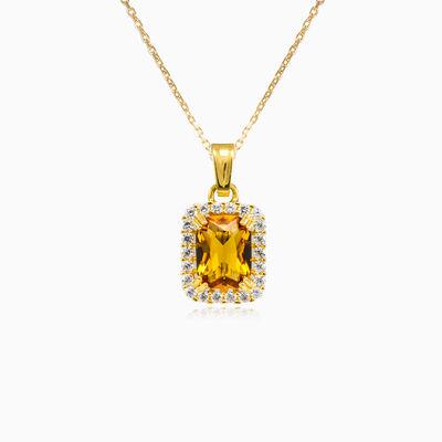 Halo Radiant citrine pendant woman Pendants Royal