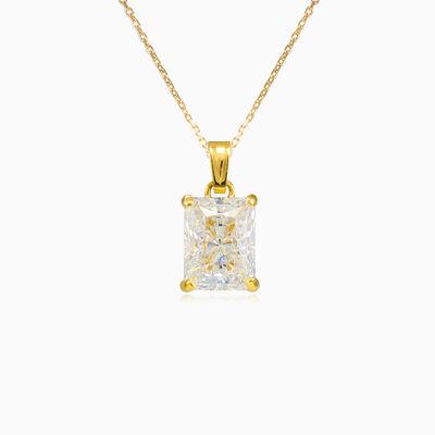 Radiant crystal gold pendant woman Pendants Lustrous