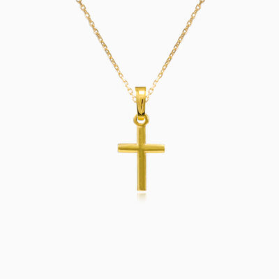 Simple yellow gold cross pendant unisex Pendants Santa Croce